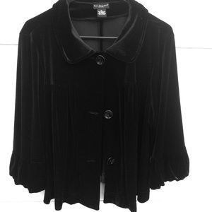 Bay Studio Black velvet jacket size  XL